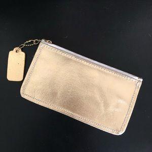 Handbags - Vintage Metallic Gold Wristlet Purse